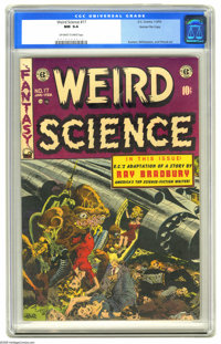 Weird Science #17 Gaines File pedigree (EC, 1953) CGC NM 9.4 Off-white to white pages. A pretty grim and scary corpse-fi...