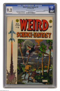 Golden Age (1938-1955):Science Fiction, Weird Science-Fantasy #25 Gaines File pedigree 8/12 (EC, 1954) CGCNM- 9.2 Off-white to white pages. Assigning art duties fo...
