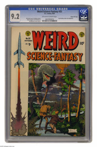 Weird Science-Fantasy #25 Gaines File pedigree 8/12 (EC, 1954) CGC NM- 9.2 Off-white to white pages. Assigning art dutie...
