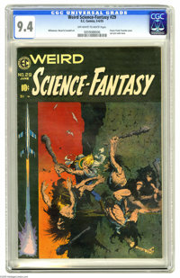 Weird Science-Fantasy #29 (EC, 1955) CGC NM 9.4 Off-white to white pages. Russ Cochran called this issue's Frank Frazett...