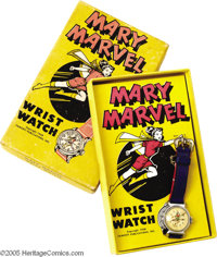 Mary Marvel Wrist Watch (Fawcett, 1948). Here is a Mary Marvel Wrist Watch that's in Excellent condition in a nice, full...
