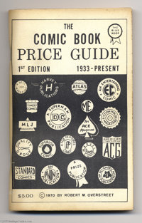 Overstreet Price Guide #1 First Printing (Gemstone, 1970) Condition: VF. This is the original white-cover first printing...