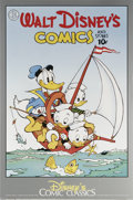 Memorabilia:Miscellaneous, Carl Barks - Walt Disney's Uncle Scrooge Print (Another Rainbow, 1987). Donald Duck and his nephews take to the high seas in...