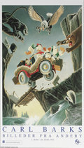 Memorabilia:Miscellaneous, Carl Barks - Carl Barks Billeder Fra Andeby Exhibition Poster (Egmont, 1994). In May 1994, Barks went overseas for the first...