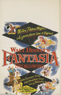 Memorabilia:Miscellaneous, Fantasia Window Card (Buena Vista, 1956). A reissue window card poster for the classic 1940 animated film, this item packs a...