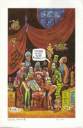 Memorabilia:Comic-Related, 1998 Outer Galactic Comic-Con Signed Print by Harvey Kurtzman #160/500 (Starbur Graphics, 1984). The great Harvey Kurtzman p...