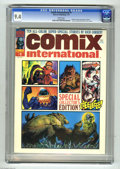 Magazines:Horror, Comix International #1 (Warren, 1974) CGC NM 9.4 White pages. Low distribution. Cover and all art by Richard Corben. Overstr...