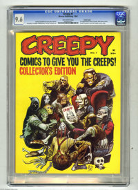 Creepy #1 Pacific Coast pedigree (Warren, 1964) CGC NM+ 9.6 Off-white pages. Warren Publishing's concept for its first f...