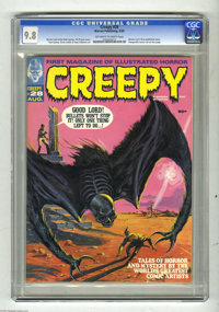 Creepy #28 (Warren, 1969) CGC NM/MT 9.8 Off-white to white pages. A scintillating cover by Vic Prezio is rendered in bla...