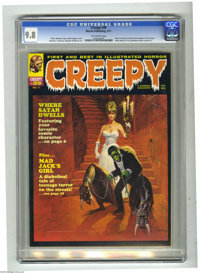 Creepy #39 (Warren, 1971) CGC NM/MT 9.8 Off-white pages. Uncle Creepy and Cousin Eerie appear in first story. Basis Gogo...