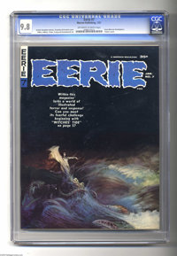 Eerie #7 (Warren, 1967) CGC NM/MT 9.8 Off-white to white pages. Frank Frazetta cover. Interior art by Gray Morrow, Gene...