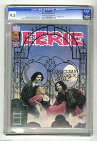 Eerie #93 (Warren, 1978) CGC NM/MT 9.8 Off-white to white pages. Don Maitz cover, with art by Alfredo Alcala, Jose Ortiz...