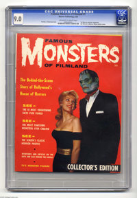 Famous Monsters of Filmland #1 (Warren, 1958) CGC VF/NM 9.0 Off-white to white pages. This copy is tied for the highest...