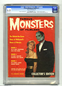 Famous Monsters of Filmland #1 (Warren, 1958) CGC FN 6.0 Cream to off-white pages. Legend has it that this first Warren...