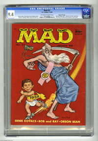 Mad #37 Gaines File pedigree (EC, 1958) CGC NM 9.4 Off-white to white pages. This issue starts things off with a fun New...