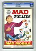 "Golden Age (1938-1955):Horror, Mad Follies #4 (EC, 1966) CGC NM 9.4 Cream to off-white pages. BobClarke cover. Frank Frazetta back cover. Includes ""Mad Mo..."