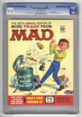 "Magazines:Mad, More Trash from Mad #6 White Mountain pedigree (EC, 1963) CGC NM 9.4 Off-white to white pages. Includes ""TV Guise"" booklet (..."