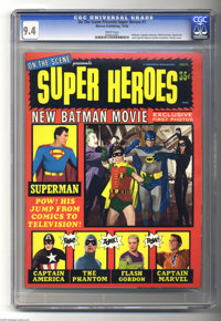"""On the Scene Presents Super Heroes #1 (Warren, 1966) CGC NM 9.4 White pages. Feature on the 1966 """"Batman"""" movi..."""
