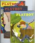 Magazines:Miscellaneous, Playboy Group (HMH Publishing Co., 1954-1957) Condition AverageFN/VF. This group of early issues begins with the sixth issu...