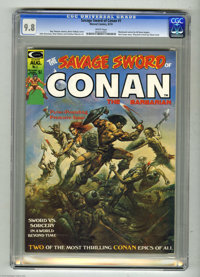 Savage Sword of Conan #1 (Marvel, 1974) CGC NM/MT 9.8 White pages. Marvel called upon fantasy artist supreme Boris Valle...