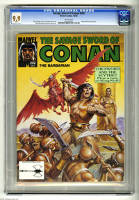 Savage Sword of Conan #202 (Marvel, 1992) CGC MT 9.9 White pages. Earl Norem cover. John Buscema and Ernie Chan art. Kin...