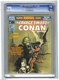 Magazines:Miscellaneous, Savage Sword of Conan Annual #1 (Marvel, 1975) CGC NM+ 9.6Off-white to white pages. Enrique Badia Romero cover. BarrySmith...
