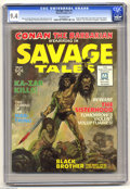 Magazines:Miscellaneous, Savage Tales #1 (Marvel, 1971) CGC NM 9.4 Off-white pages. Thisgroundbreaking black and white magazine from Marvel gave us ...