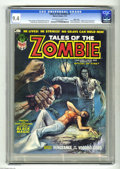 Magazines:Horror, Tales of the Zombie #3 Massachusetts pedigree (Marvel, 1974) CGC NM 9.4 Off-white to white pages. Boris Vallejo cover. Pablo...
