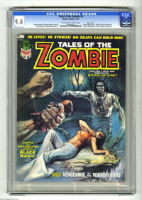 Tales of the Zombie #3 Massachusetts pedigree (Marvel, 1974) CGC NM 9.4 Off-white to white pages. Boris Vallejo cover. P...