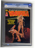 Magazines:Horror, Vampirella #60 (Warren, 1977) CGC NM+ 9.6 White pages. Enrich Torres cover. Jose Gonzalez and Esteban Maroto art. Overstreet...