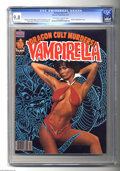 Magazines:Horror, Vampirella #77 (Warren, 1979) CGC NM/MT 9.8 Off-white to white pages. Photo cover featuring actress Barbara Leigh. Russ Heat...