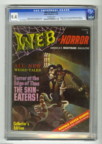Web of Horror #1 (Major Magazines, 1969) CGC NM 9.4 Off-white pages. The publisher Major Magazines gave Warren some earl...