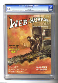 Web of Horror #2 (Major Magazines, 1970) CGC NM 9.4 White pages. The few copies of this short-lived mag that turn up are...