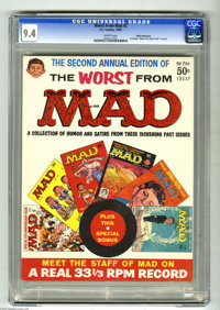 Worst From Mad #2 White Mountain pedigree (EC, 1959) CGC NM 9.4 White pages. This square bound issue reprints Mad #35, 3...