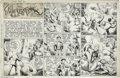 Original Comic Art:Comic Strip Art, Hal Forrest - Tailspin Tommy Sunday Comic Strip Original Art, dated9-25-38 (Bell Syndicate, 1938). In the wake of Charles L...