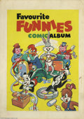 Original Comic Art:Covers, Unknown Artist - Favourite Funnies Comic Album Cover Original Art(undated). What's all this, then? Looks like jolly good fu...