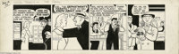 Chester Gould - Dick Tracy Daily Comic Strip Original Art, dated 1-12-44 (Chicago Tribune, 1944). Instead of rubbing out...