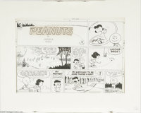Charles Schulz - Peanuts Sunday Comic Strip Original Art, dated 5-30-54 (United Feature Syndicate, 1954). World champion...