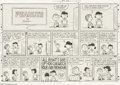 Original Comic Art:Comic Strip Art, Charles Schulz - Peanuts Sunday Comic Strip Original Art, dated 2-25-62 (United Feature Syndicate, 1962). In this priceless ...