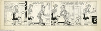 Chic Young Studios - Blondie Daily Comic Strip Original Art, dated 5-7-54 (King Features Syndicate, 1954). How do you sh...