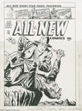 Original Comic Art:Covers, Al Avison - All-New Comics #13 Green Hornet Cover Original Art(Harvey, 1946). The Green Hornet strikes again on this cool c...