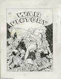 Original Comic Art:Covers, Al Avison (attributed) - War Victory Adventures #3 Cover OriginalArt (Harvey, 1943). Into the Nazi arsenal of death, leaps ...
