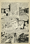 Original Comic Art:Panel Pages, Dick Ayers - Men's Adventures #27, Human Torch page 6 Original Art(Atlas, 1954). Whether you're a comic newbie, have been a...