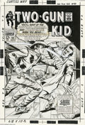 Original Comic Art:Covers, Dick Ayers - Two-Gun Kid #90 Cover Original Art (Marvel,1967). Thishard-hitting cover demonstrates the folly of taking on t...