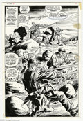 Original Comic Art:Splash Pages, Dick Ayers and John Severin - Sgt. Fury #81, Splash Page 14Original Art (Marvel, 1970). Hang loose, Howler fans --- Dick Ay...
