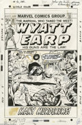 Original Comic Art:Covers, Dick Ayers - Wyatt Earp #31 Cover Original Art (Marvel, 1972). Wyatt Earp dished out some tough frontier justice on this ter... (2 items)