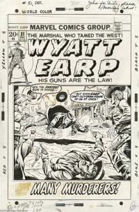 Dick Ayers - Wyatt Earp #31 Cover Original Art (Marvel, 1972). Wyatt Earp dished out some tough frontier justice on this...