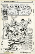 Original Comic Art:Covers, Mark Bright and John Beatty - Power Man and Iron Fist #125 CoverOriginal Art (Marvel, 1986). Power Man and Iron Fist went o...