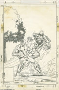 Original Comic Art:Covers, Mark Bright and Bob Layton - Unpublished Iron Man #223 CoverOriginal Art (Marvel, 1987). Iron Man battles the foe named For...