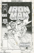 Original Comic Art:Covers, Mark Bright and Bob Layton - Iron Man Annual #9 Cover Original Art(Marvel, 1987). Iron Man took the battlefront into the ed... (3items)